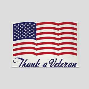 Thank A Veteran Rectangle Magnet